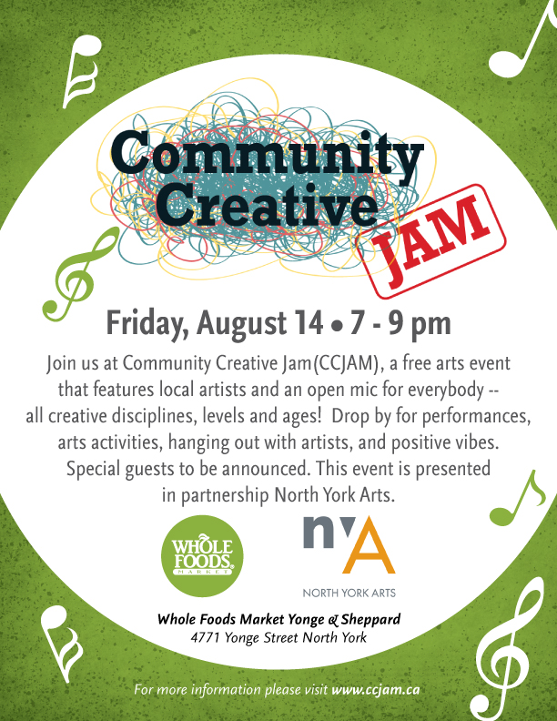 CCJAM Community Creative Jam #4 Summer 2015 Flyer